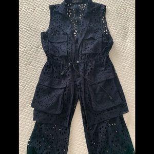 Zara lace vest and lace pant